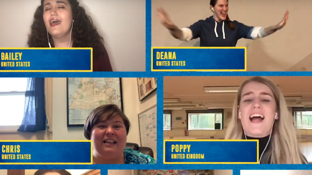 screenshot - Come From Away fan video - Me and the Sky - 03/2020